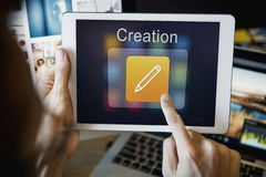 Mobile Application Design Illustrator Creativity Concept royalty free stock photos