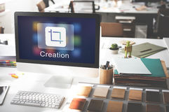 Mobile Application Design Illustrator Creativity Concept Stock Photography