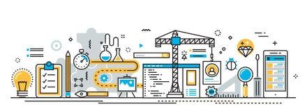 Mobile application development building process for website  Stock Photo
