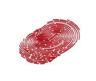 Mobile application for fingerprint recognition in 3d. Vector illustration Eps10 file Stock Photography