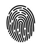 Mobile application for fingerprint recognition. Vector illustration Eps10 file Stock Images