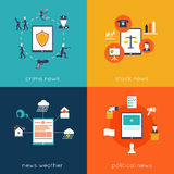 Mobile Application Flat Set Royalty Free Stock Photo