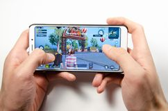 Mobile application and games stock photo