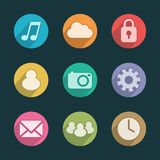 Mobile Application Icons Royalty Free Stock Image
