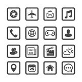 Mobile application icons Stock Photography