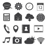 Mobile Application Icons Set Royalty Free Stock Photo