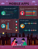 Mobile application infographic Stock Photo