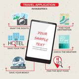 Mobile application infographics for your best travel Stock Photography