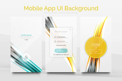 Mobile Application Interface Background Design Royalty Free Stock Image
