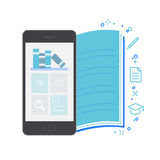 Mobile Application Interface, Bookstore. Vector Illustration Stock Photography