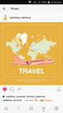 Mobile application and plane flying over the world map. Royalty Free Stock Images