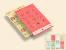 Mobile application templates for user interface. Royalty Free Stock Image