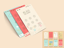 Mobile application templates for user interface. Royalty Free Stock Photo