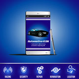 Mobile Application Vector Automotive Icon Royalty Free Stock Photography