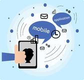 Mobile application Stock Photography