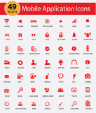 Mobile Application And Website icons. Red version royalty free illustration