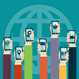 Mobile Applications Concept Royalty Free Stock Photos