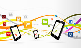 Mobile applications Stock Image