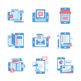 Mobile Applications concept Royalty Free Stock Photo
