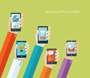 Mobile applications concept Royalty Free Stock Images