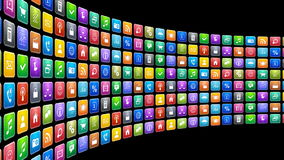 Mobile applications concept stock footage