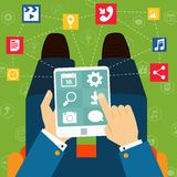 Mobile applications flat concept Stock Images