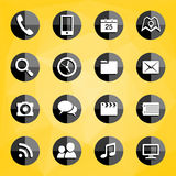 Mobile Applications icons Stock Images