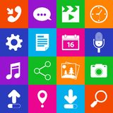 Mobile Applications Icons Stock Photo