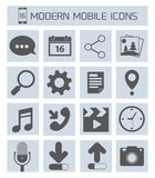 Mobile applications icons Royalty Free Stock Images