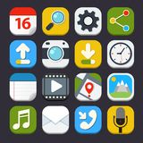 Mobile Applications Icons Royalty Free Stock Image