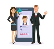 Mobile applications. SMS message, e-mail. Social network, system evaluation photo. Information technology. Mobile applications. Sending messages, smiles in Stock Image