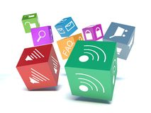 Mobile applications software Stock Photography