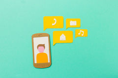 Mobile apps and communication concept Royalty Free Stock Images