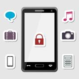 Mobile apps design lock Royalty Free Stock Photos