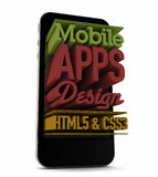 Mobile apps design Royalty Free Stock Photography