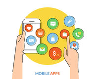 Mobile apps Stock Image