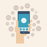 Mobile Apps Flat Illustration Stock Images