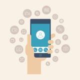 Mobile apps flat illustration vector illustration