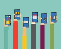 Mobile apps illustration Royalty Free Stock Photo