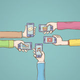 Mobile apps  . Vector illustrtion. Stock Photos