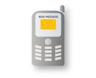 Mobile avec le message neuf illustration libre de droits