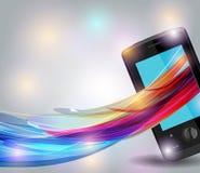 Mobile avec les lignes lumineuses Image libre de droits