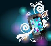 Mobile avec les lignes lumineuses Photos libres de droits