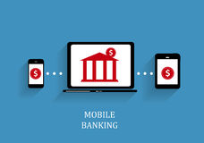 Mobile Bank Concept Vector Illustration Royalty Free Stock Photography