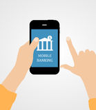 Mobile Bank Concept Vector Illustration Royalty Free Stock Photo
