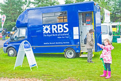 Mobile bank van at Grantown on Spey Show. Royalty Free Stock Image