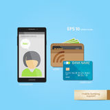 Mobile banking aid Royalty Free Stock Images