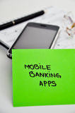 Mobile banking apps development. Concept stock photos