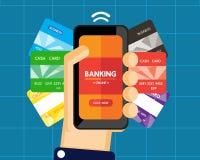 Mobile banking Stock Photos