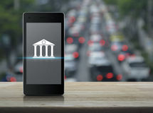Mobile banking concept Stock Photo